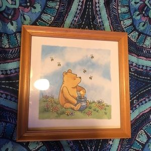 Winnie the Pooh glass framed picture 🍯